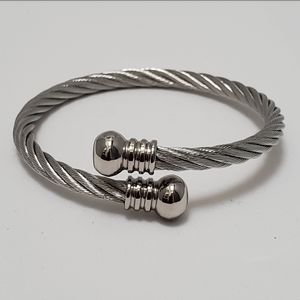 (New) Twisted, Stainless Steel Bracelet